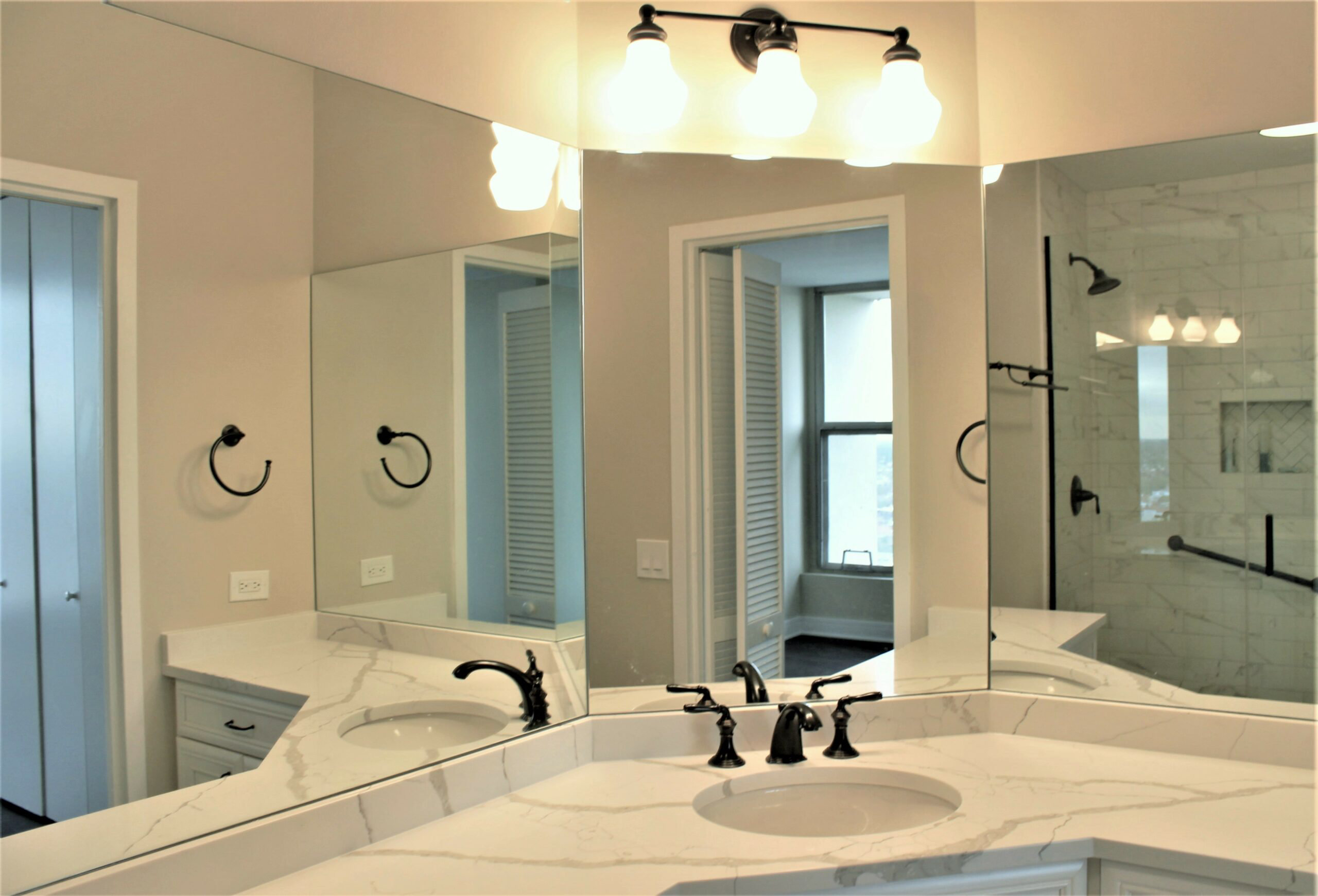 Chicago Lake Shore Harbor House Master Bathroom Remodel