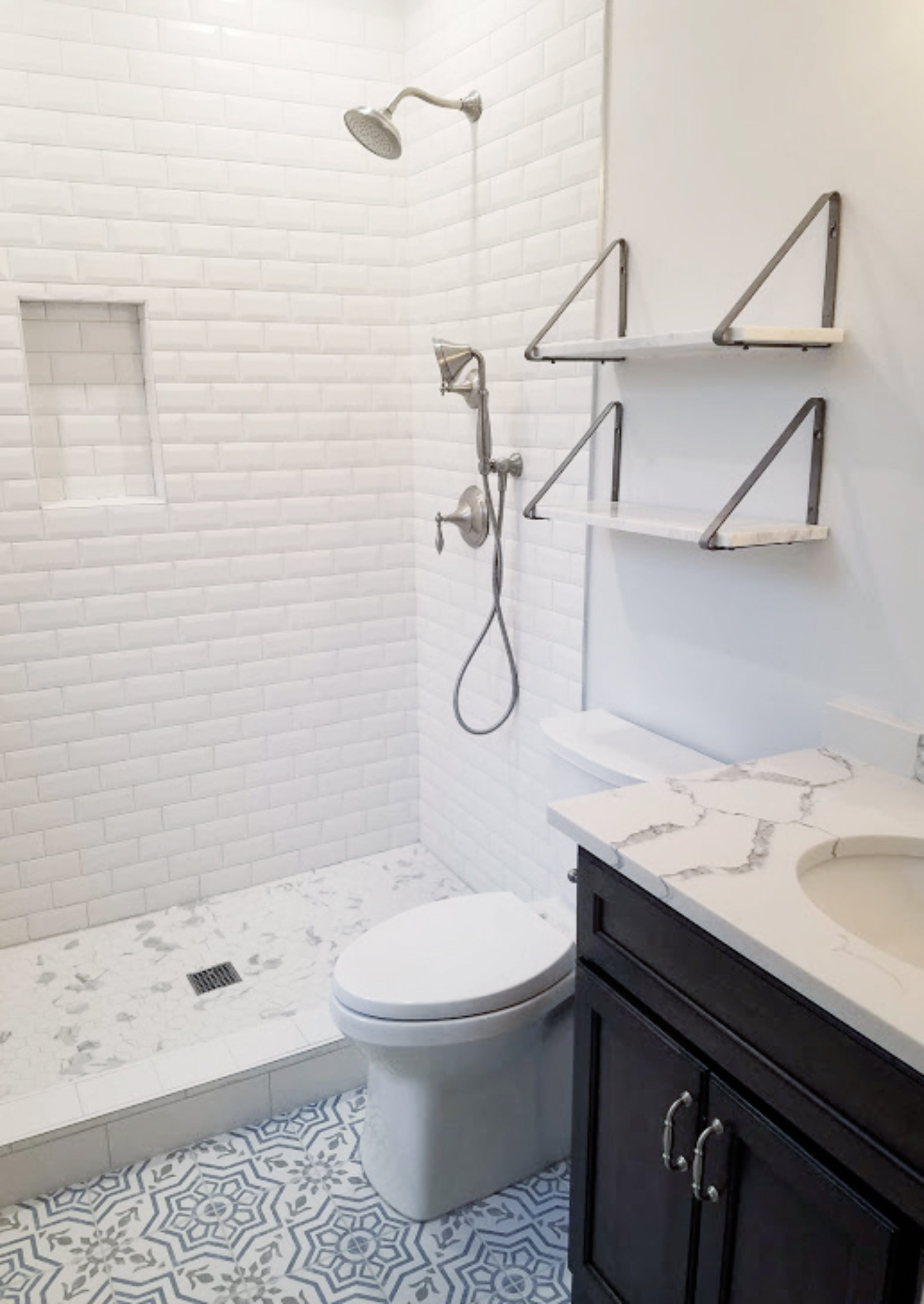 Chicago Lakeview Bathroom Shower Remodel