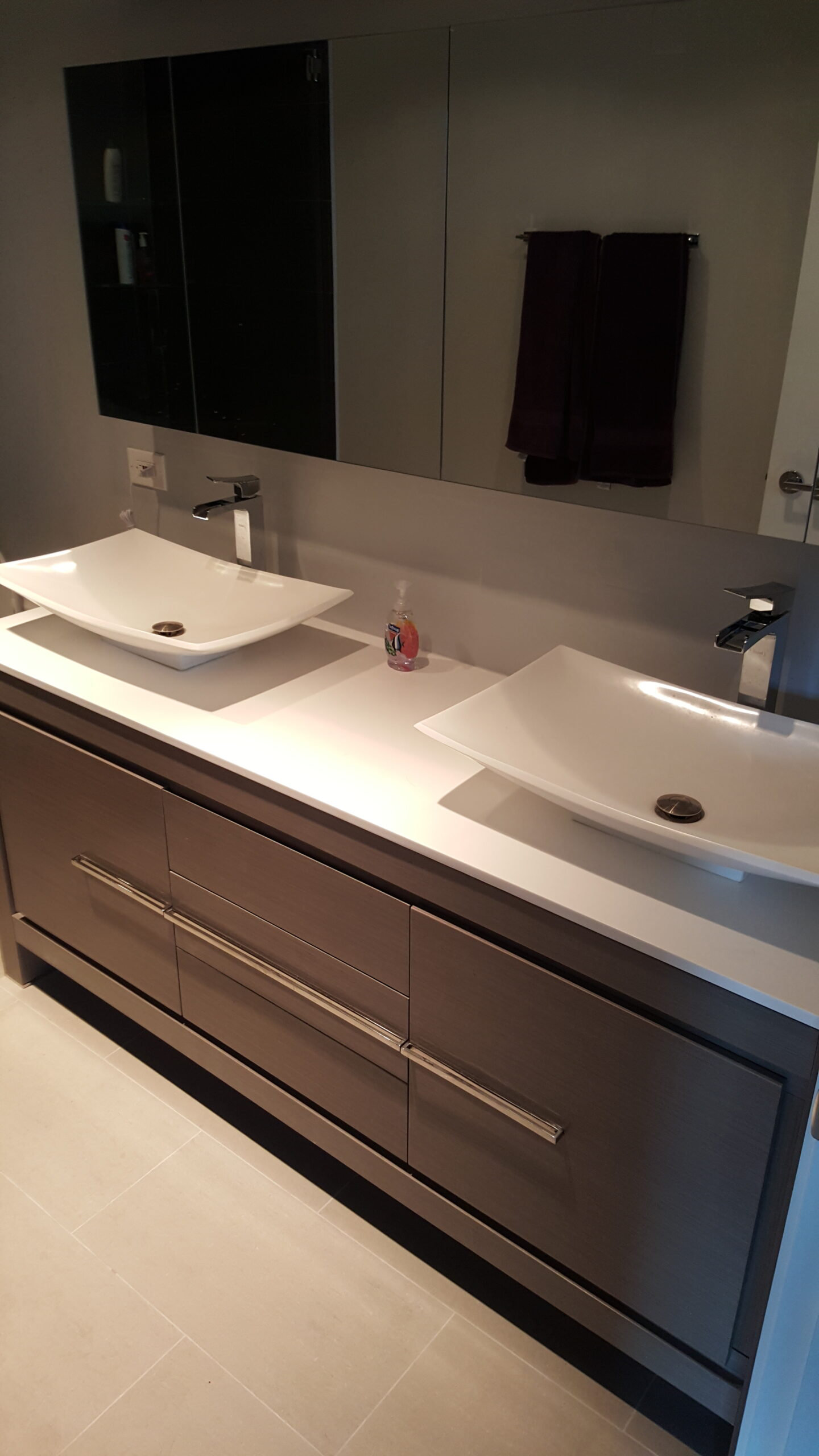 Chicago Lincoln Park Master Bath Double Sink