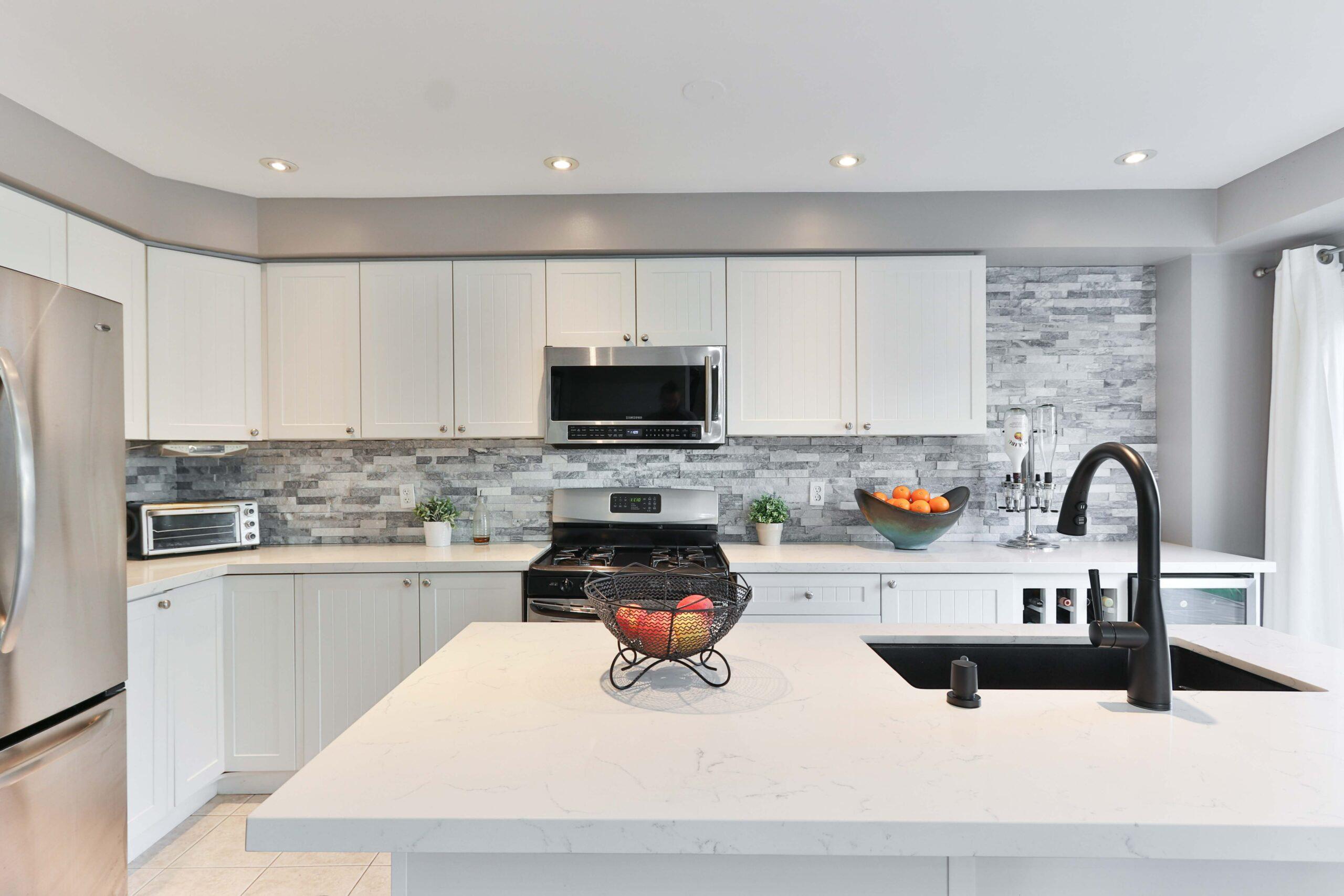 modern white kitchen remodeling