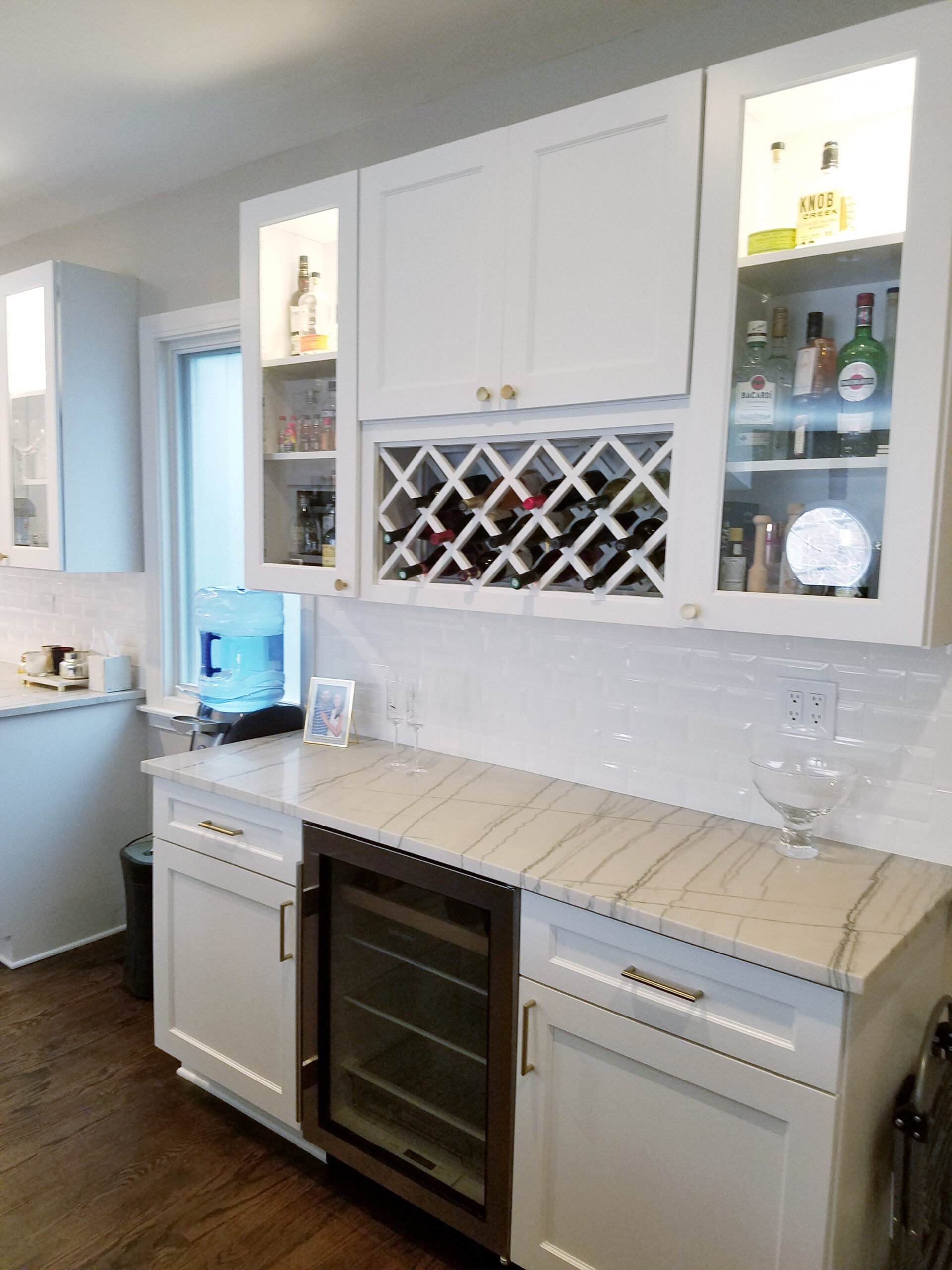 Chicago Near North Side Kitchen Remodel Wine Cabinet