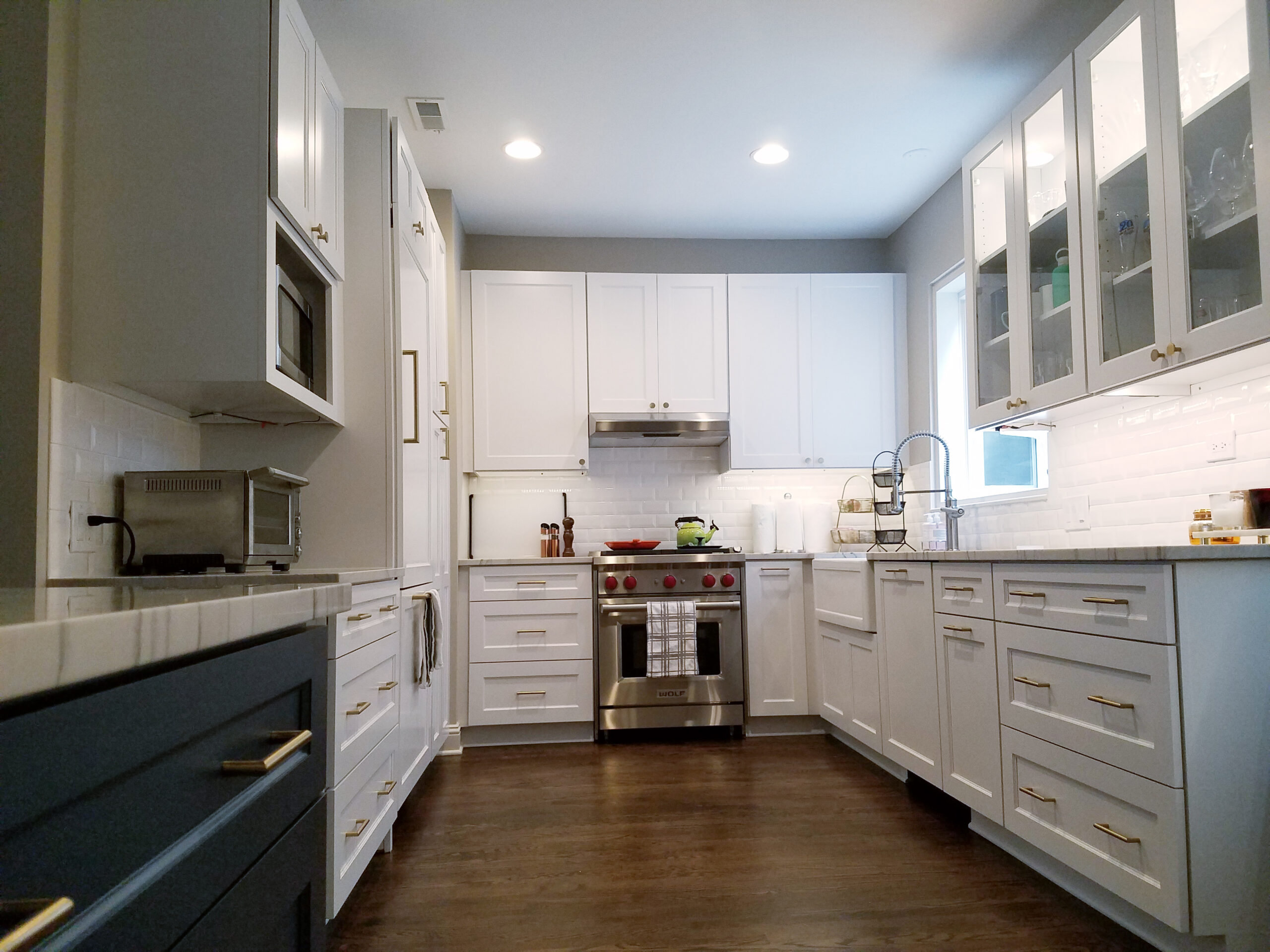 Chicago Near North Side White Transitional Kitchen Remodel
