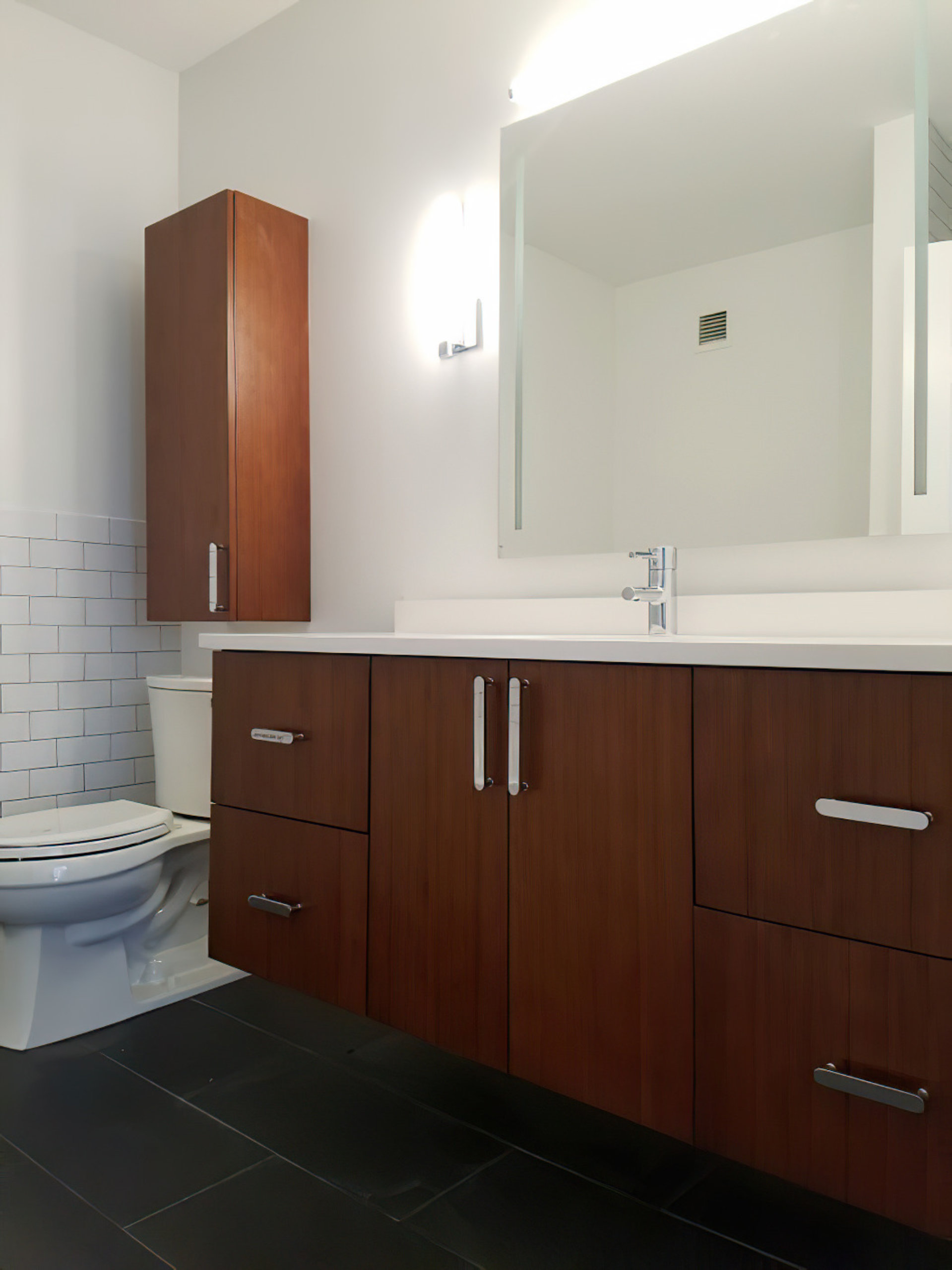 Chicago River North Condo Modern Bathroom Remodel