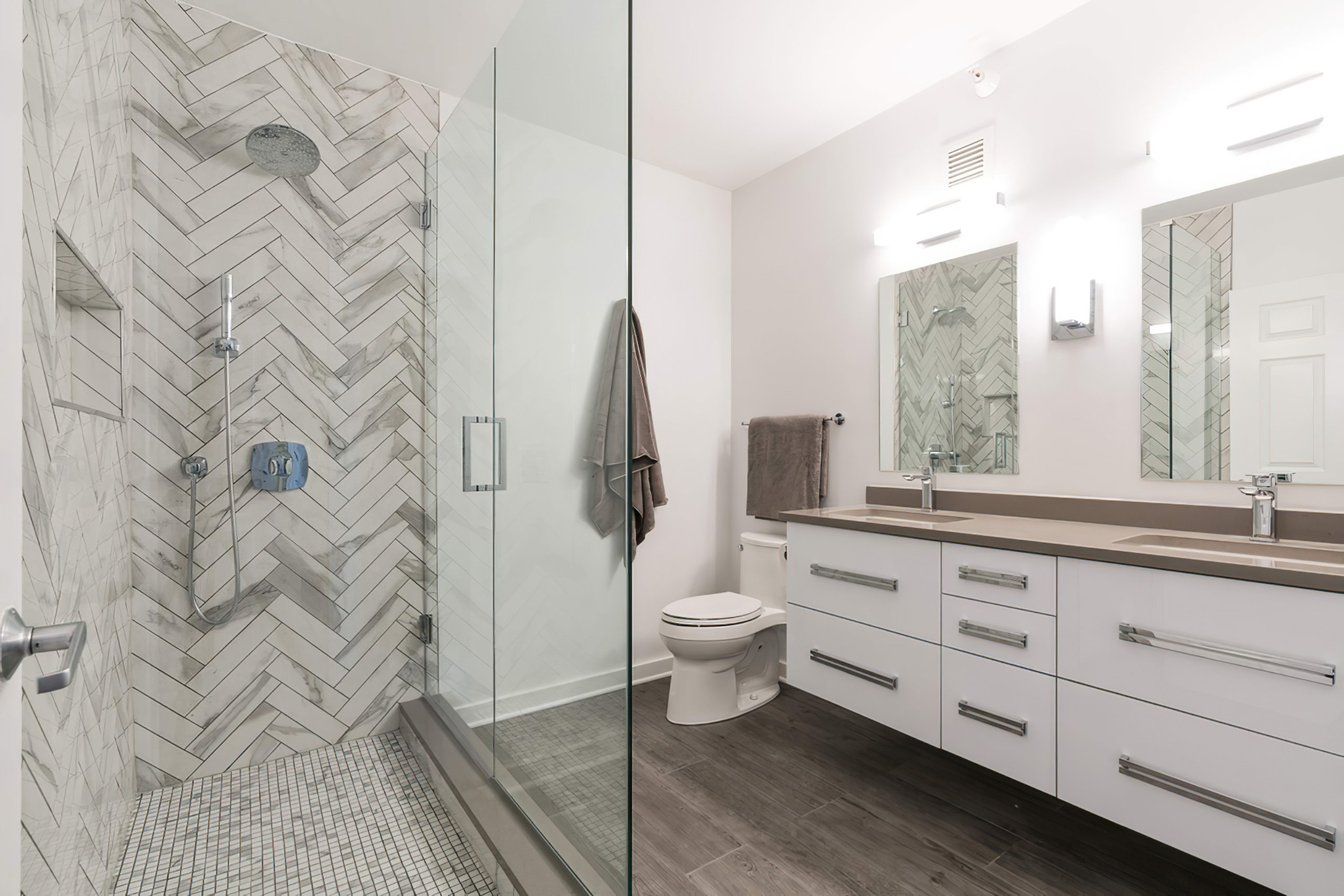 Chicago River North Condo Modern Bathroom Remodel