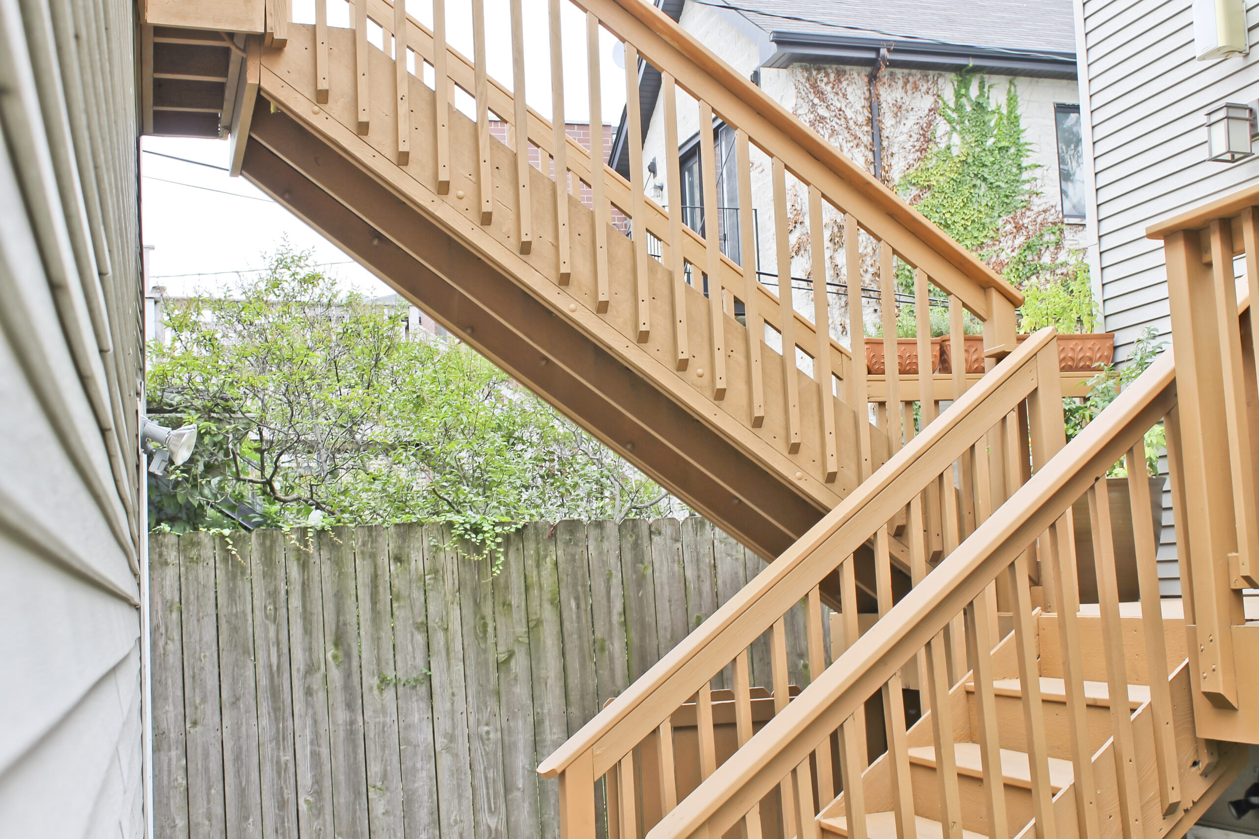 Roscoe Village IL Deck Staircase Construction
