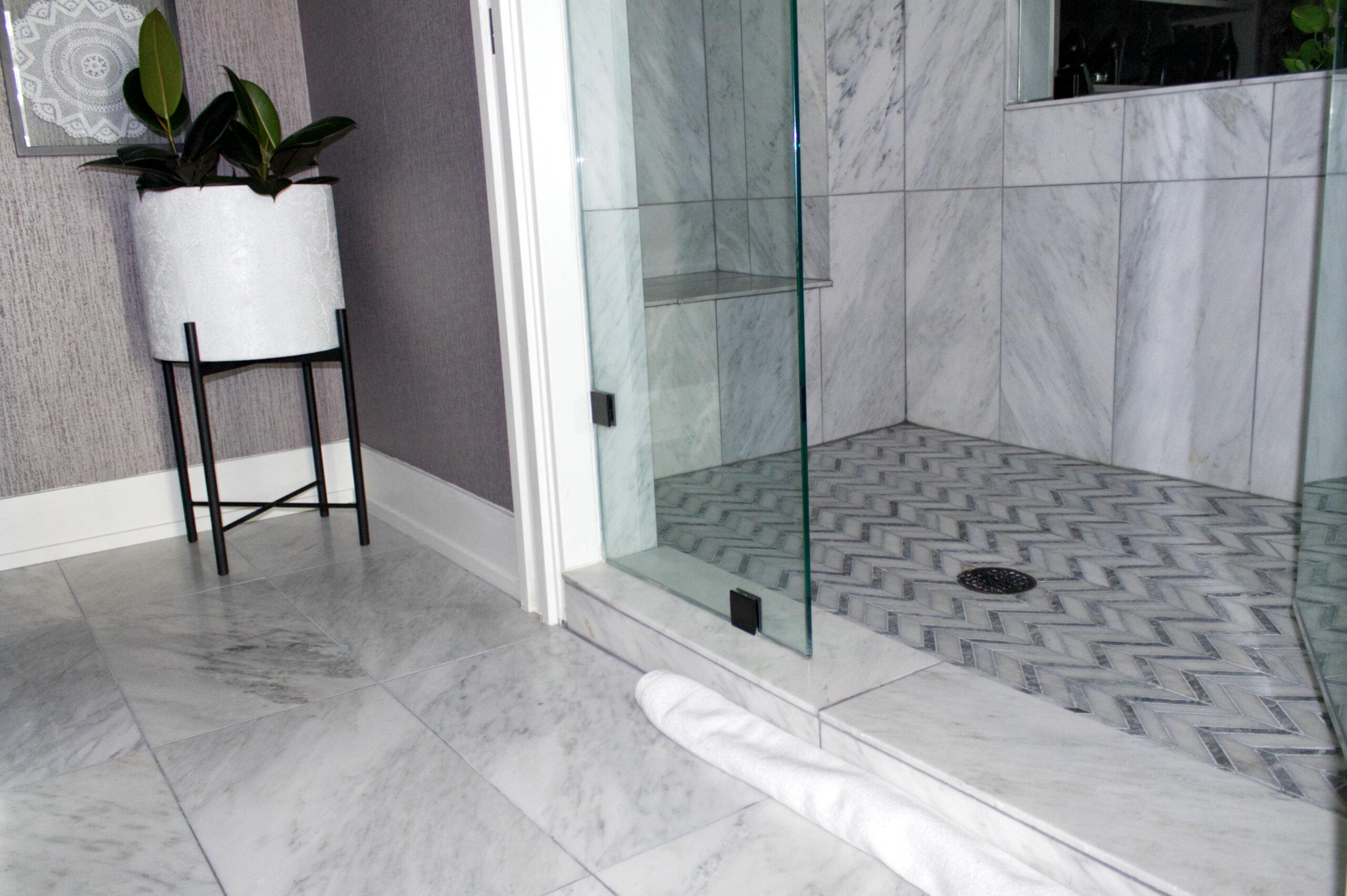 Chicago River North Master Bathroom Shower Remodel