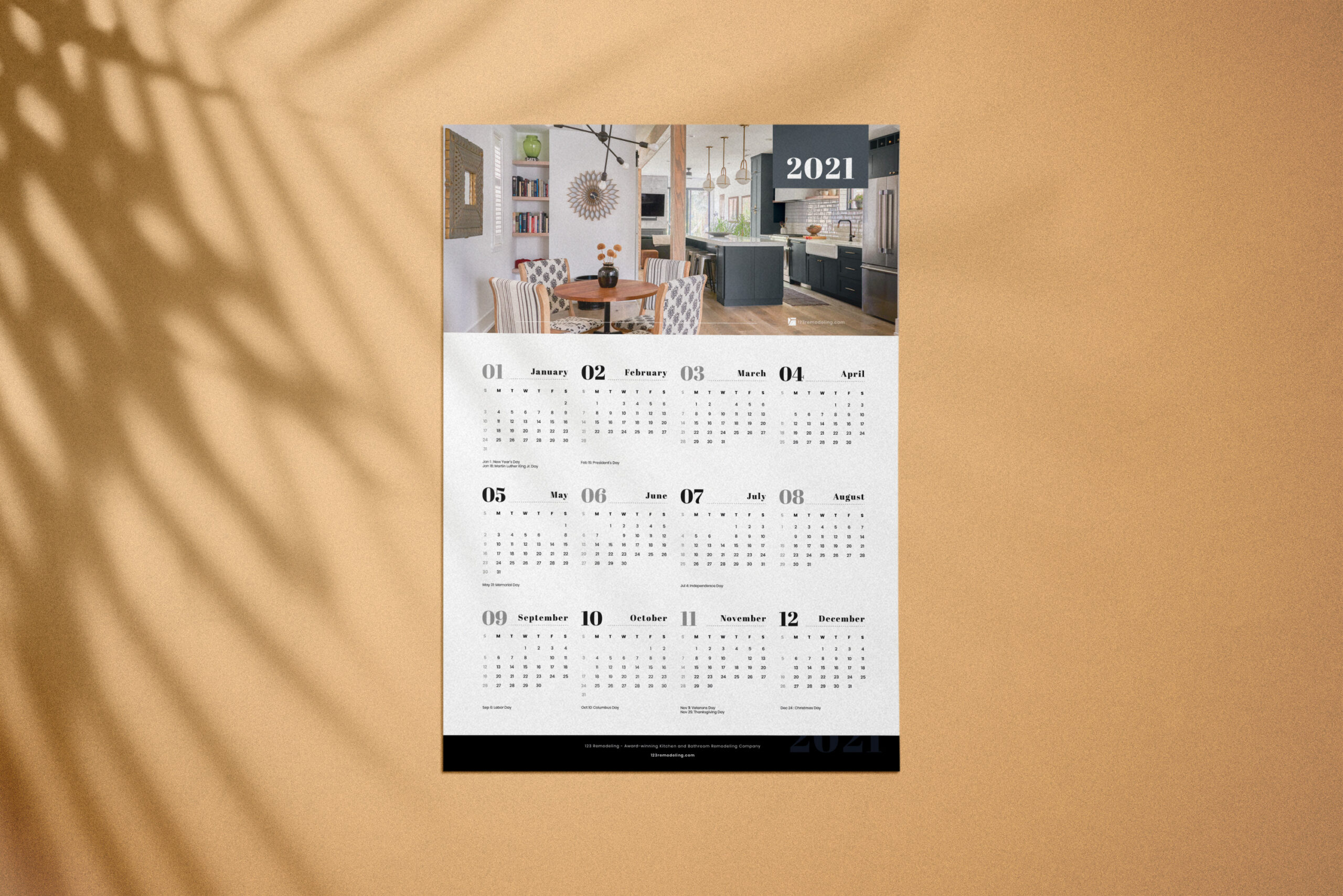 2021 Calendar by 123 Remodeling