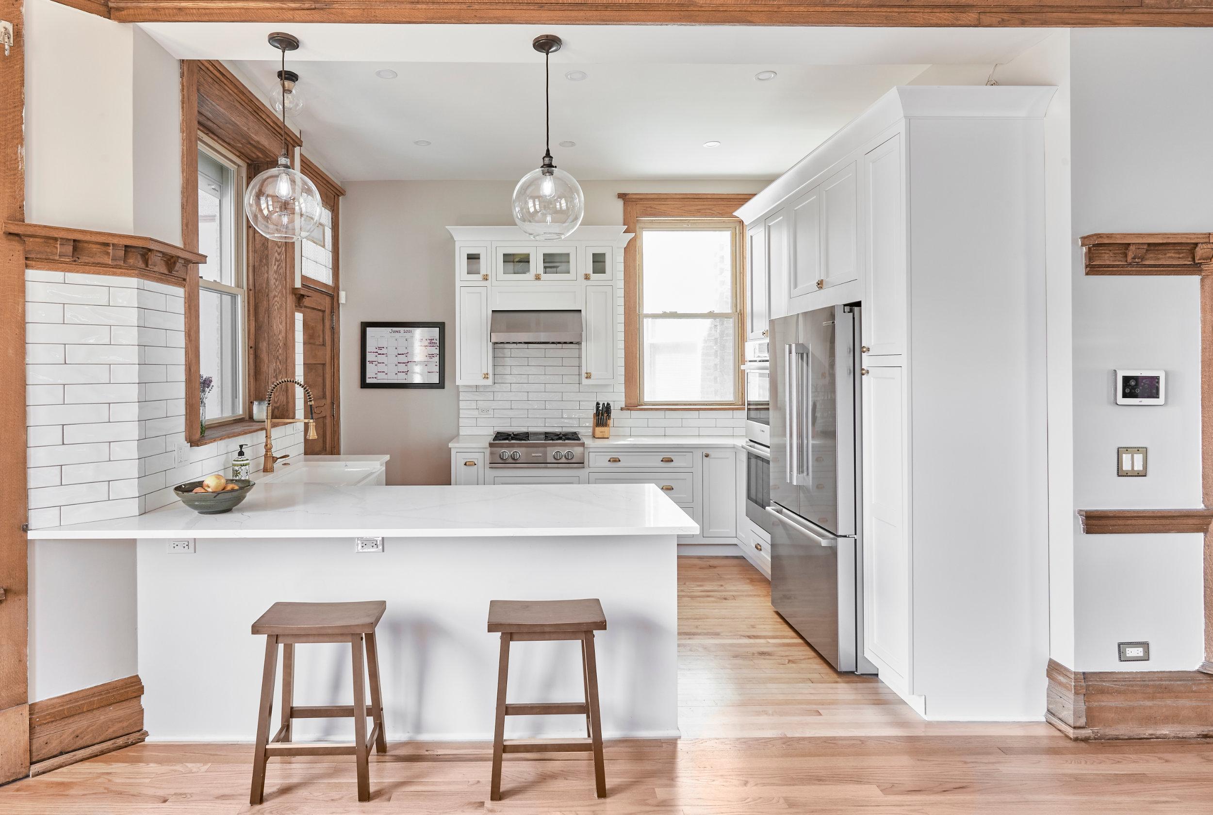 modern open concept chicago kitchen