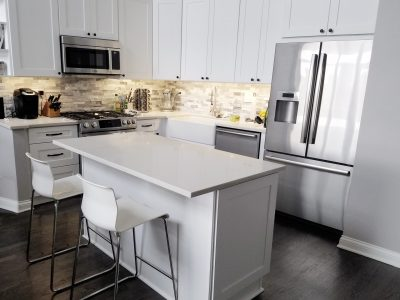 White Kitchen Remodel in Chicago Old Town