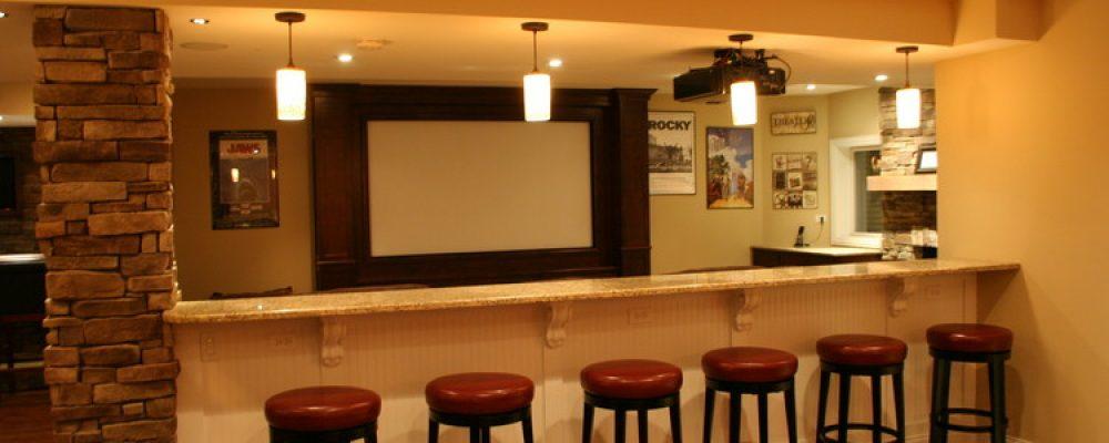Chicago Basement Remodeling Home Bar