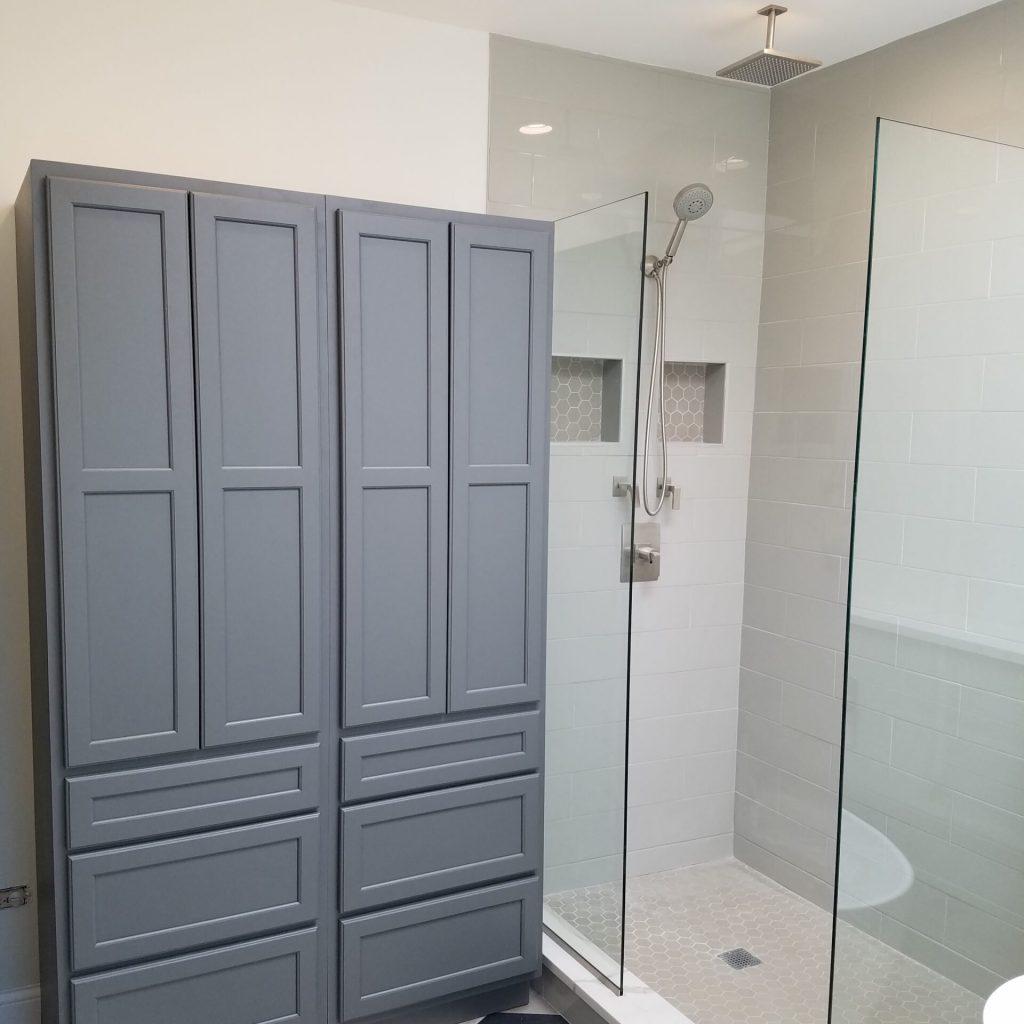 Chicago Bucktown Rowhouse Master Bathroom Shower Remodel